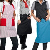 Arbeitskleidung Gastronomie , Service Und Verkauf. Mit Bistroschürzen,  Weste, Latzschürzen, Vorbinder.