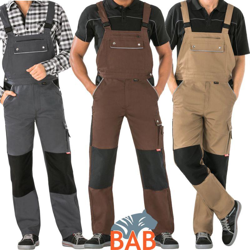 Arbeitsbekleidung Arbeitshose Latzhose Arbeitslatzhhose  Baumwolle Farbe Khaki
