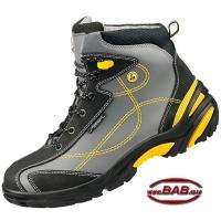 reputable site 62872 1cb3b Abeba 34252 ATEX® ESD Sicherheitsschuhe hoch S3 SRC grau-gelb