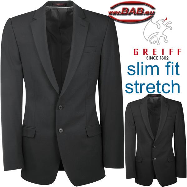3e4f4b7391c263 Greiff Premium 1108 Herren-Sakko in modischer Schnittform Slim Fit