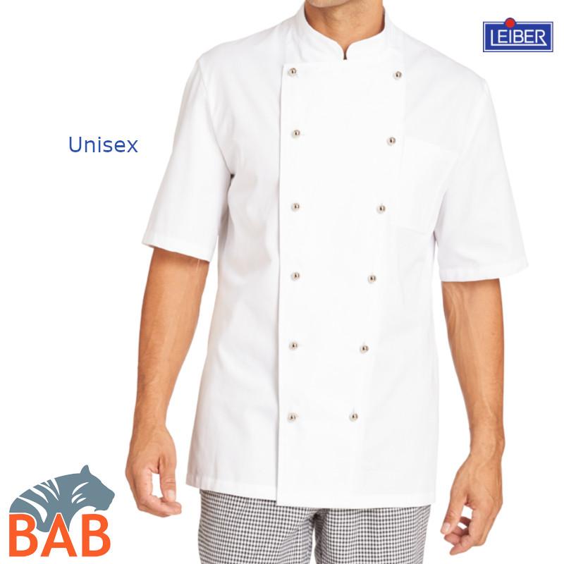 Kochjacke halbarm kochjacke kurzarm leiber 125950 for Berufsbekleidung küche