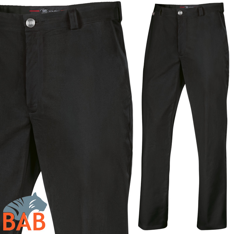 Kochhose in Stretch Bäckerhose in schwarz