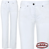 Greiff 5329 Damenjeans in Stretch weiss