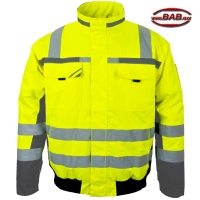 PK-WIPJ Winter-Warnpilotenjacke warngelb-grau bis 4XL