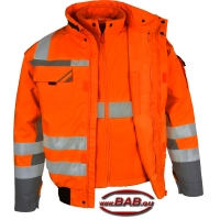 PK-WIPJ3in1 Pilotenjacke 3in1 warnorange-grau bis 4XL