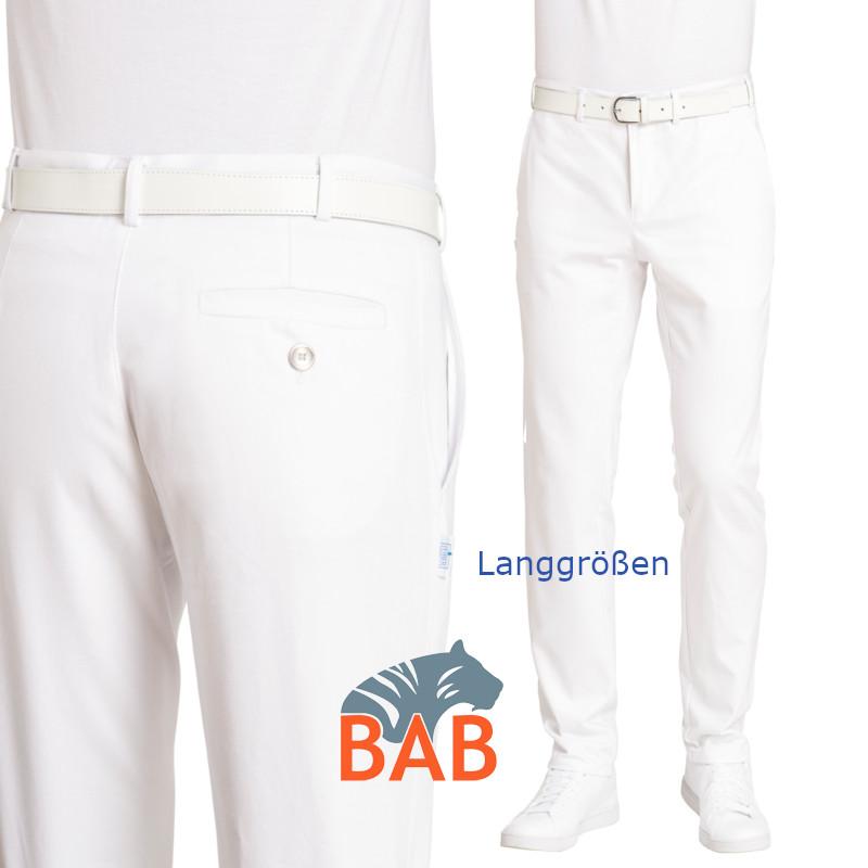 80f34ea6a43b Bild vergößern Leiber 12-7072 Herrenhose in weiss, Kurzgrößen, ohne  Bundfalten