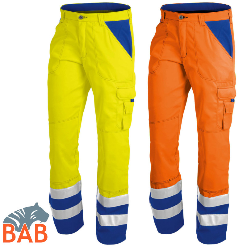 K-2109 8311 Warnschutz-Bundhose orange/blau