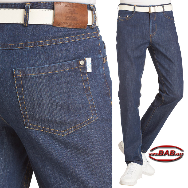 Leiber Herren Jeans in Five-Pocket Form, modischer Passform