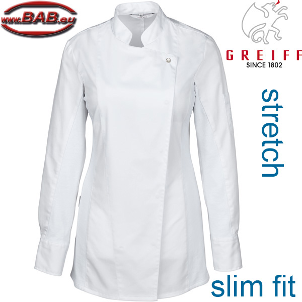 Greiff 5408 Damenkochjacke stretch slim fit