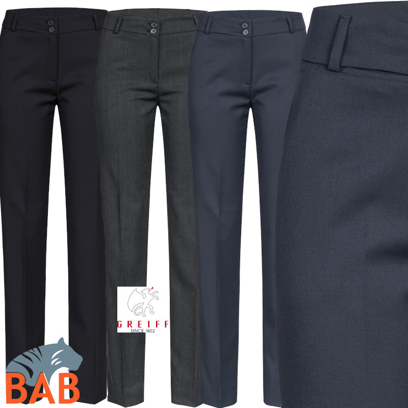 Greiff 1358 Damenhose in Slim Fit mit hoher Leibhöhe, Stretch