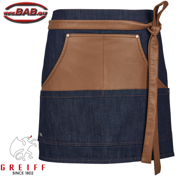 Greiff 41414 Vorbinder in Jeansoptik 77x40cm, Blue Denim Stretch