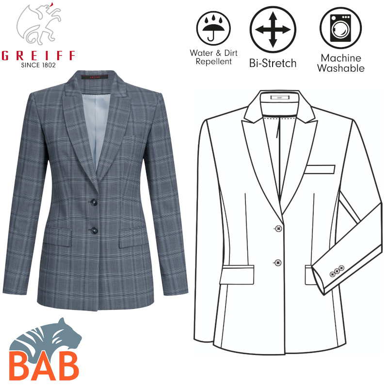 Greiff 1423 Premium Stretch- Langblazer Regular fit