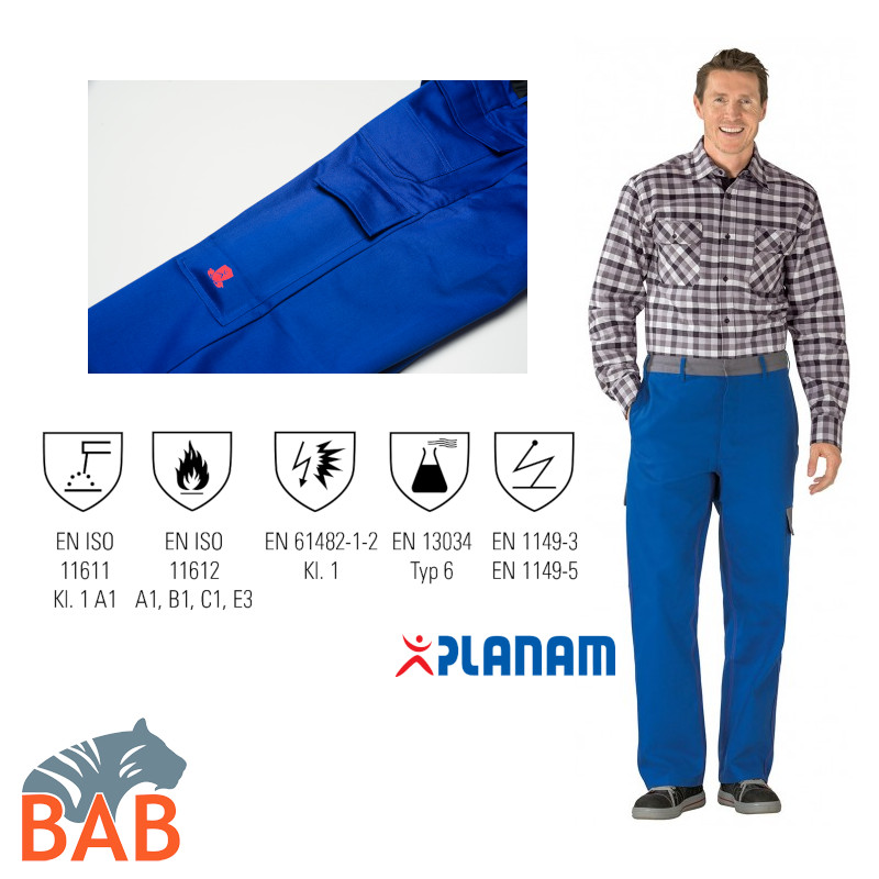 Planam Major Protect robuste Bundhose mit funktionellen Details