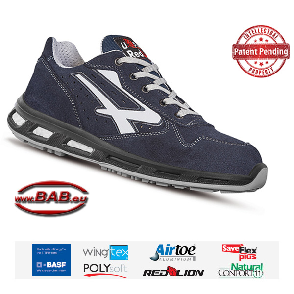 UPower S1P Halbschuh mit Aluminiumkappe, Save & Flex Plus