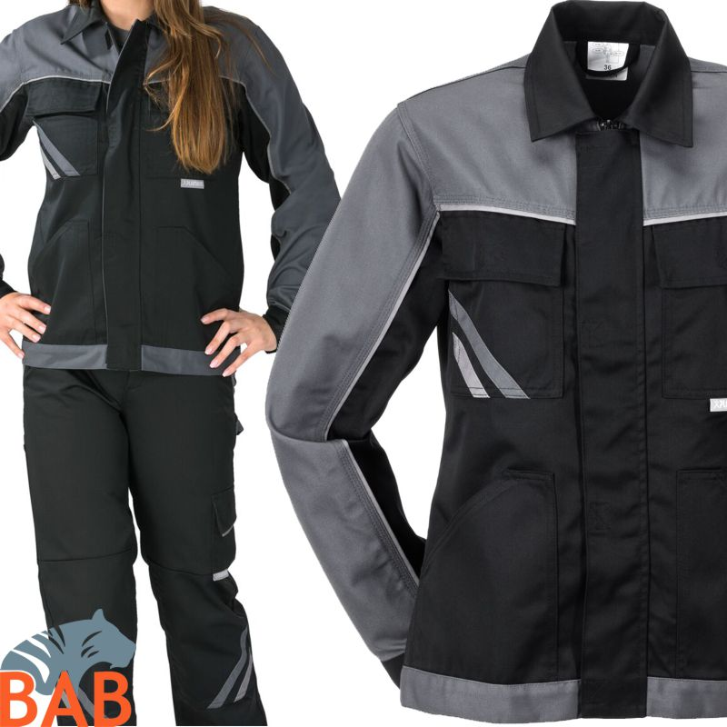 Planam 2717 Highline Damen Bundjacken in schwarz/schiefer/zink