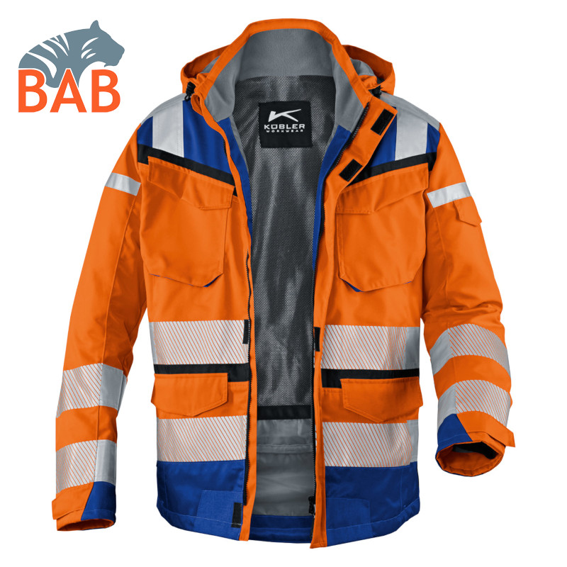 Kübler REFLECTIQ SYMPATEX® Warnschutz Wetterjacke in orange