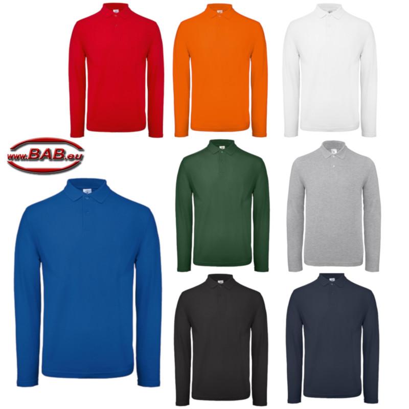 Bild vergößern Langarm Polo für Damen   Herren aus Baumwolle, farbig 76fd244f72