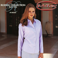 Russell Collection 932F Damen Oxfort Bluse Businessbekleidung