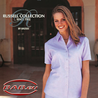 Russell Collection 933F Damen Oxfort Bluse Businessbekleidung